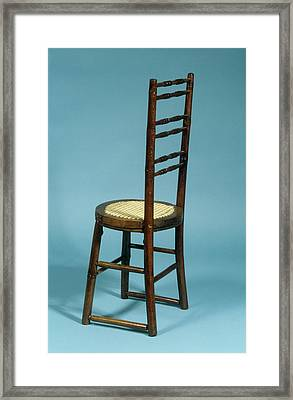 Spinal Correction Chair Framed Print by Science Photo Library
