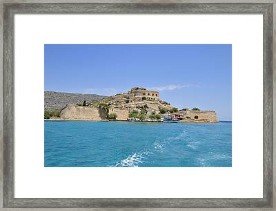 Spinalonga Island Crete Greece Framed Print