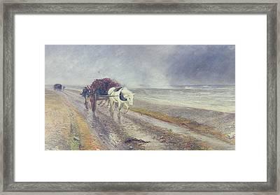 Spindrift Framed Print by John MacWhirter