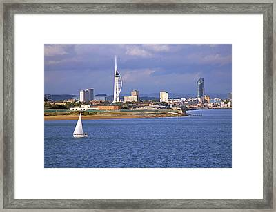 Spinnaker Tower And Gunwharf Quays Framed Print