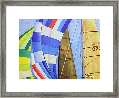 Spinnakers Framed Print by Stan Tenney