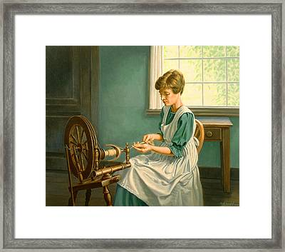 Spinning At The Homestead Framed Print by Paul Krapf