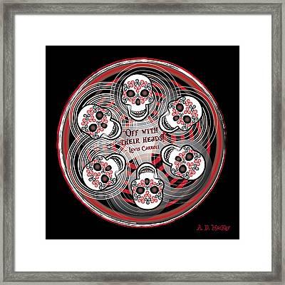 Spinning Celtic Skulls Framed Print