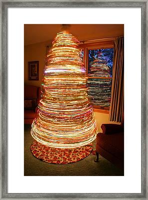 Spinning Christmas Tree Framed Print
