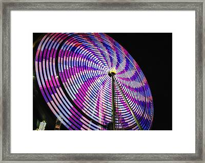 Spinning Disk Framed Print by Joan Carroll