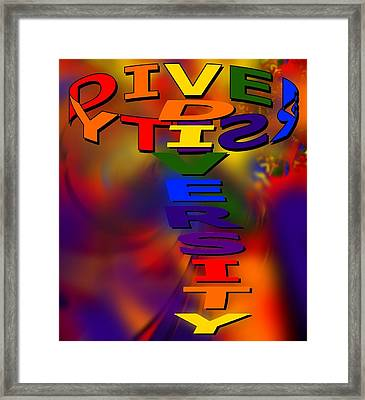 Spinning Diversity Framed Print by Pharris Art