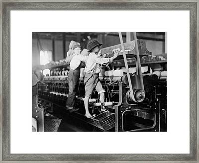 Spinning Frame Circa 1909 Framed Print by Aged Pixel