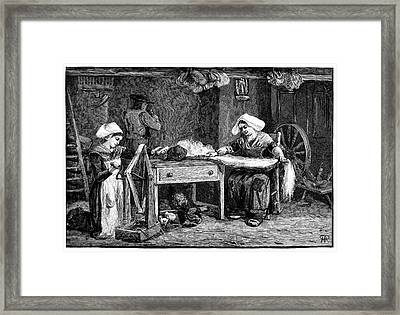 Spinning Hemp Framed Print by Science Photo Library