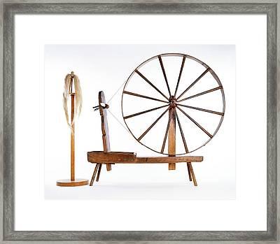 Spinning Wheel And Wool Framed Print by Dorling Kindersley/uig