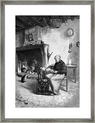 Spinning Wool Framed Print by Bildagentur-online/tschanz