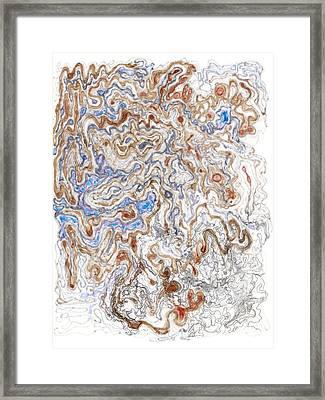 Spinodal Decomposition Framed Print by Regina Valluzzi