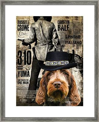 Spinone Italiano - Italian Spinone Art Canvas Print - 3 10 To Yuma Movie Poster Framed Print