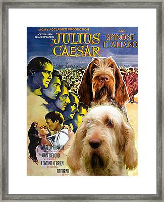 Spinone Italiano - Italian Spinone Art Canvas Print - Julius Caesar Movie Poster Framed Print
