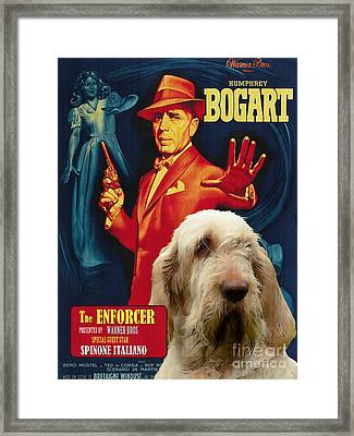 Spinone Italiano - Italian Spinone Art Canvas Print - The Enforcer Movie Poster Framed Print