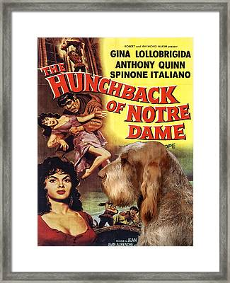 Spinone Italiano - Italian Spinone Art Canvas Print - The Hunchback Movie Poster Framed Print