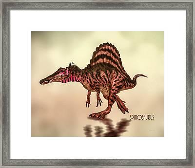 Spinosaurus Dinosaur Framed Print by Bob Orsillo