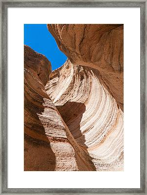 Spiral At Tent Rocks Framed Print