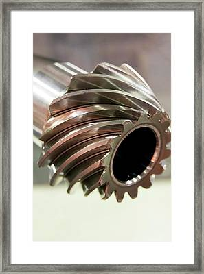 Spiral Bevel Gear Framed Print by Mark Williamson