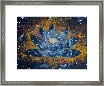 Spiral Bloom Framed Print
