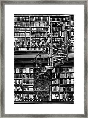 Spiral Bookcase Framed Print by Georgia Fowler