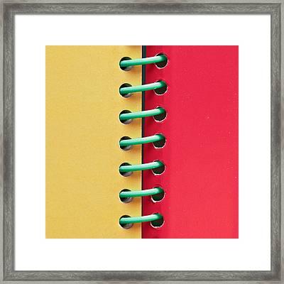 Spiral Bound Book Framed Print