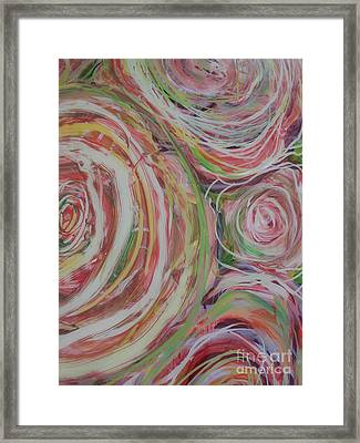 Spiral Bouquet Framed Print