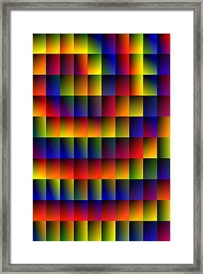 Spiral Boxes Framed Print