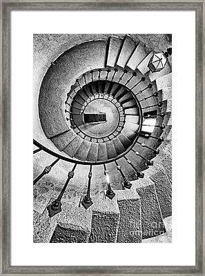 Spiral Castle Stairs In Bw Framed Print by Paul W Faust -  Impressions of Light