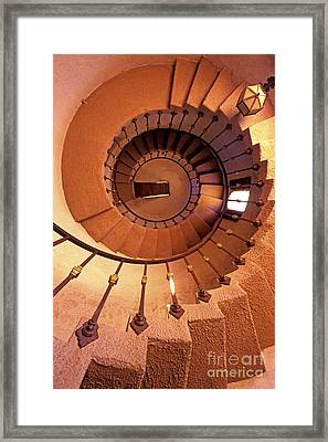 Spiral Castle Stairs Framed Print by Paul W Faust -  Impressions of Light