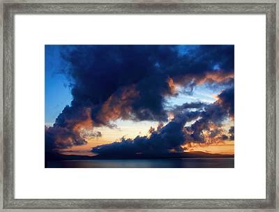 Spiral Clouds Framed Print by Aidan Moran