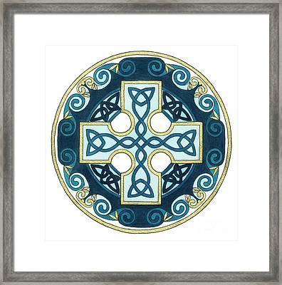 Spiral Cross Framed Print by Cari Buziak