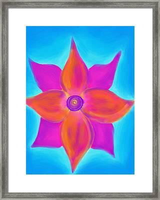 Spiral Flower Framed Print by Daina White