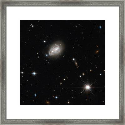 Spiral Galaxies Interacting Framed Print by Science Source
