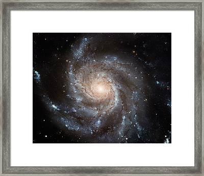 Spiral Galaxy M101 Framed Print by Nasa
