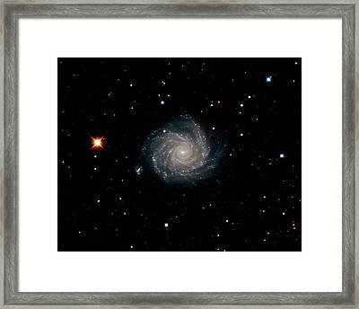 Spiral Galaxy Ngc 1232 Framed Print by Damian Peach
