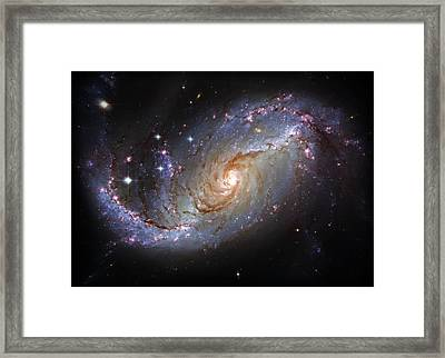 Spiral Galaxy Ngc 1672 Framed Print by Jennifer Rondinelli Reilly - Fine Art Photography