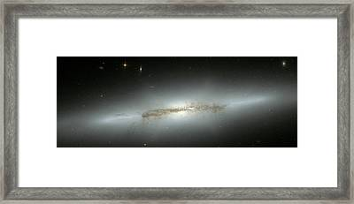Spiral Galaxy Ngc 4710 Framed Print by Nasa/esa/stsci/p. Goudfrooij