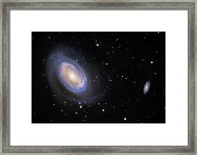 Spiral Galaxy Ngc 4725 Framed Print