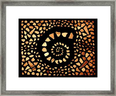 Framed Print featuring the mixed media Spiral by Kjirsten Collier