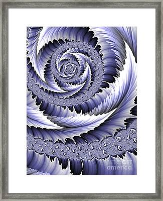 Spiral Leaf Abstract Framed Print by John Edwards