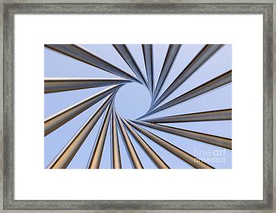 Spiral Metal Sculpture At Fermila Framed Print by Mark Williamson