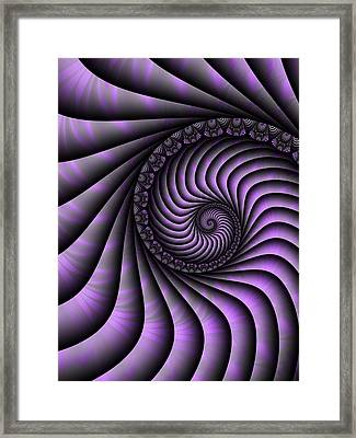 Spiral Purple And Grey Framed Print