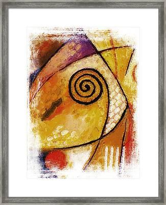 Spiral Rough Framed Print by Lutz Baar