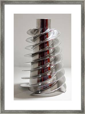 Spiral Screw Framed Print by Mark Williamson