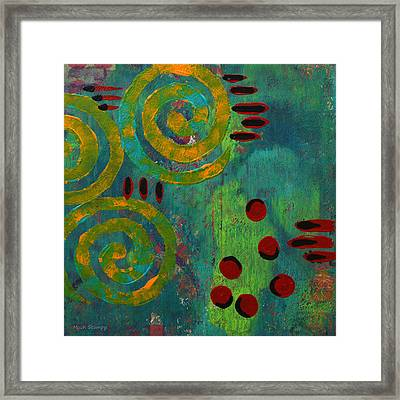 Spiral Series - Adamant Framed Print by Moon Stumpp