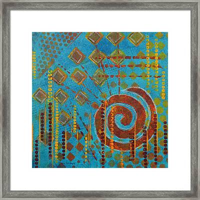 Spiral Series - Amalgam Framed Print by Moon Stumpp