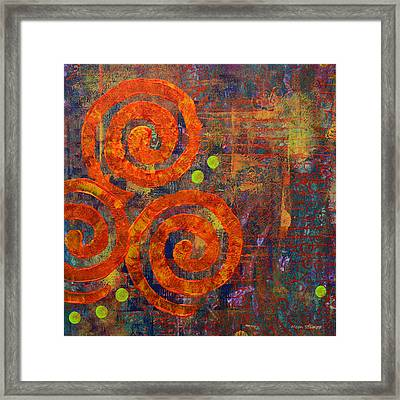 Spiral Series - Railing Framed Print by Moon Stumpp