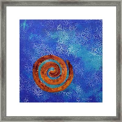 Spiral Series - Waterspiral Framed Print by Moon Stumpp