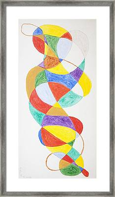 Framed Print featuring the painting Spiral Spacesuit by Stormm Bradshaw