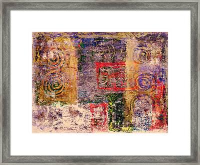Spiral Spirits Texture Framed Print